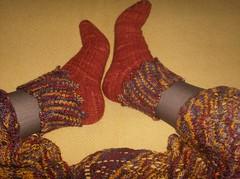 Beaded Gypsy Dancing Socks (w/shawl)