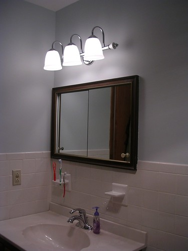 New vanity light fixture