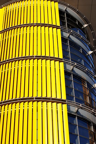 Yellow building detail PotsdamerPlatz