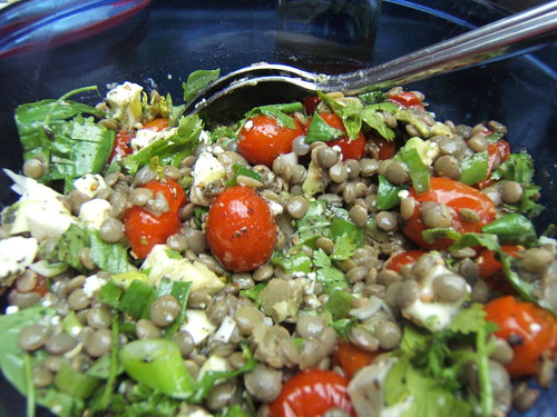 Tomatoes and Lentil Salad