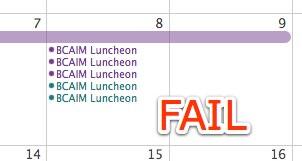 Calendar Sync Fail
