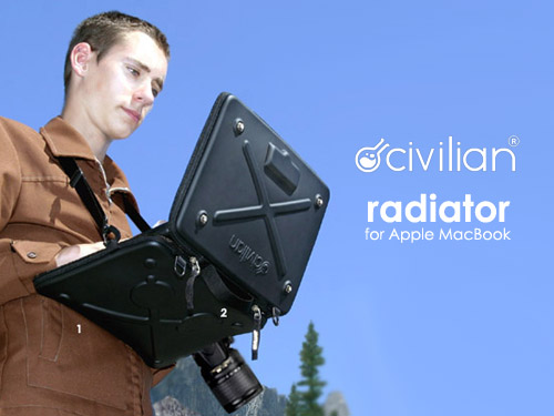 Civilian Lab Radiator MacBook 專用多工硬殼保�袋