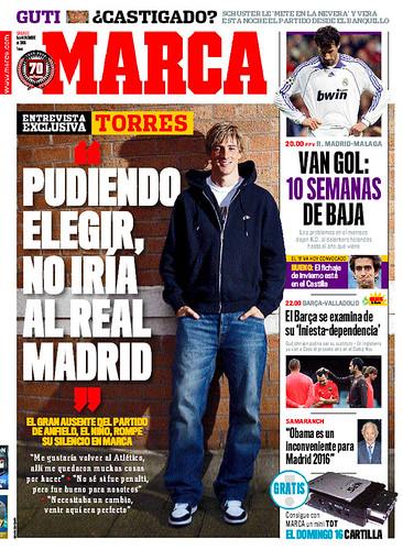 Con el Real Madrid C.F. siempre en la boca