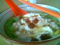 Pork kway teow soup