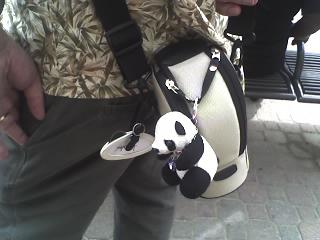 Real men carry pandbags closeup