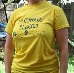 Covered in Bees t-shirt, reconstructed
