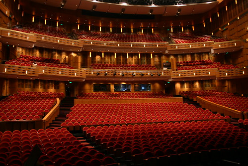 The beautiful seating of the Shanghai Grand Theater