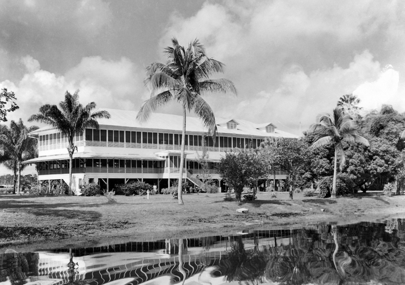 Watooka Club from the Demerara River, MacKenzie, Guyana