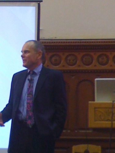 Don Tapscott, speaking about Grown Up Digital, at University College, U of T