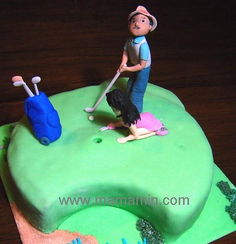 golfer cake