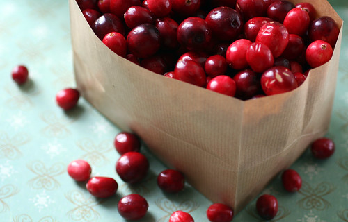 Cranberries in a sack