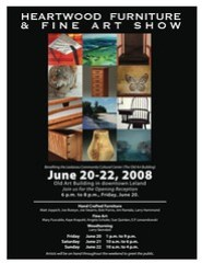 2008 Heartwood Furniture and Fine Art Show poster