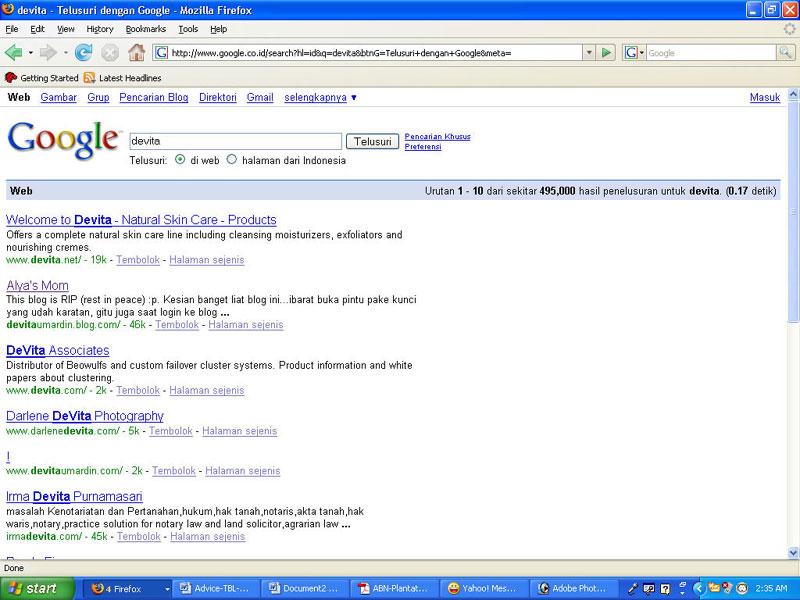 Devita on Om Google