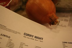 curry night souvenir recipe list