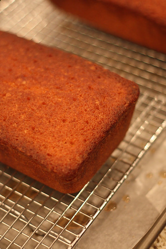 Pound Cake on Cooling Rack