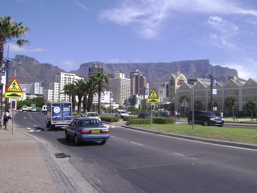 View of Table Mountain from near the waterfront.