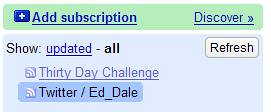 Google Reader - Subscribed to Ed Dale Twitter Feed