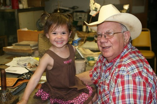 Kaidence visits our friend Garland at his belt shop.