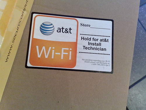 AT&T Wifi Box in Starbucks store in San Mateo