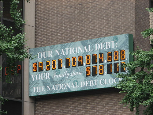 The national debt clock, a trillion dollars ago (so a couple weeks ago)