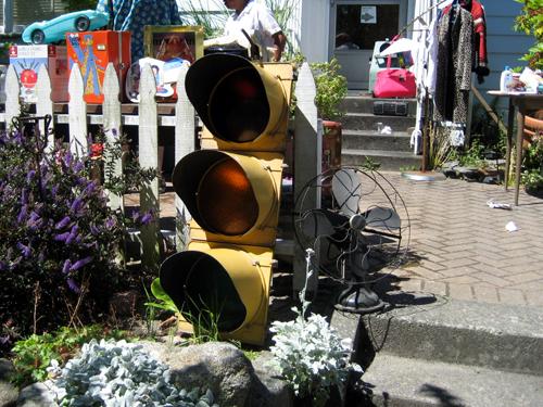 Giant traffic light