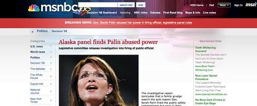 Palin Unlawfully Abused Power