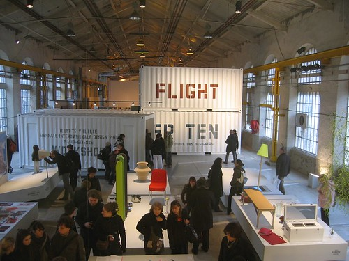 The Biennale started in Batiment H, one of three buildings. Flight!!