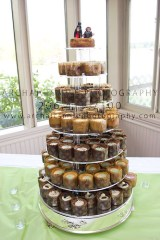 Their amazing tower of mini cheesecakes!