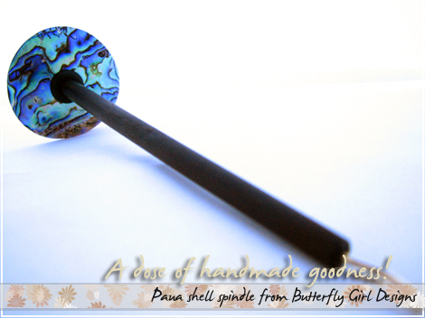 Paua shell spindle from BGD