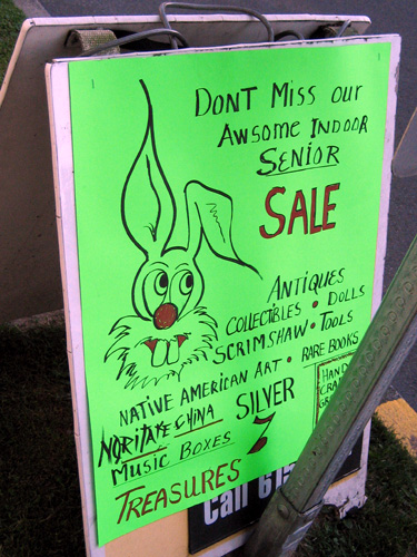 Senior Sale Sign