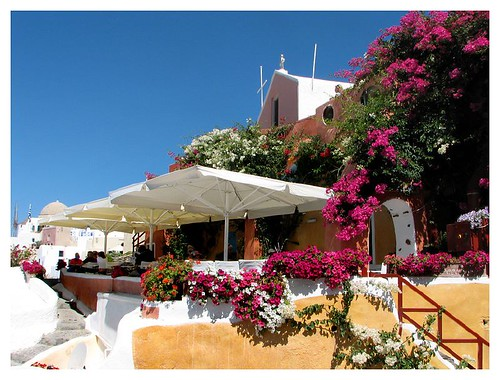 The most colourful place in Santorini by you.