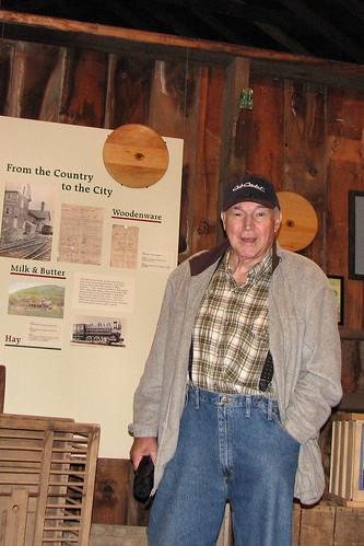Grandpa in museum