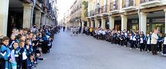 Panorámica de niños asistentes al desfile