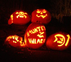 Pumpkins from the Goshen Halloween Haunted Village.  And just so you know ... it is SUPER scary!