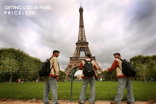 Getting Lost in Paris. Priceless.