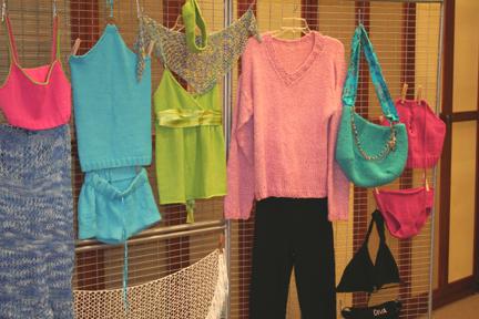 It Girl Knits garments on display