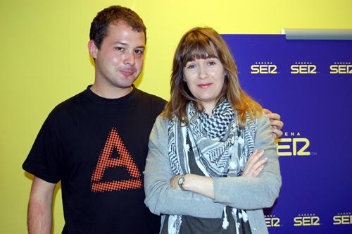 Con Marta Rivera de la Cruz, gran idolo literario