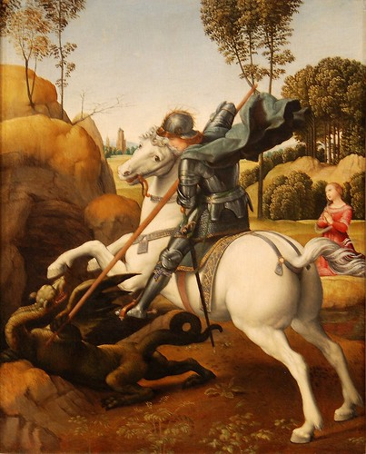 St. George & the Dragon (Raphael)