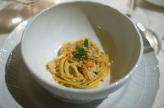 Spaghetti and Dungeness Crab
