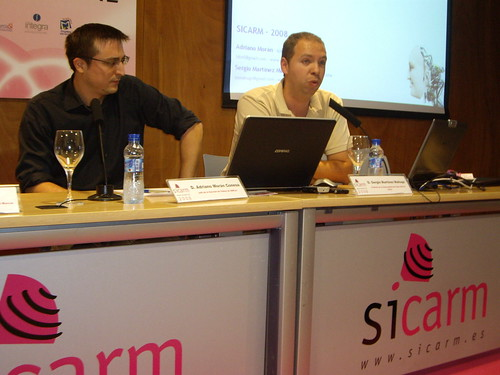 Sergio Mahugo y Adriano Morán en el Sicarm