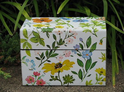 flower recipe box