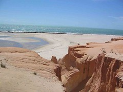 la Splendida Spiaggia di Canoa Quebrada in Brasile...