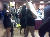 The Torah makes its rounds through the party / photo taken by Rachel Mauro