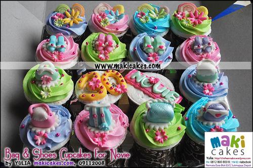 Bag & Shoes Cupcakes for Novie - Maki Cakes