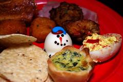 Cute little snowman on my plate