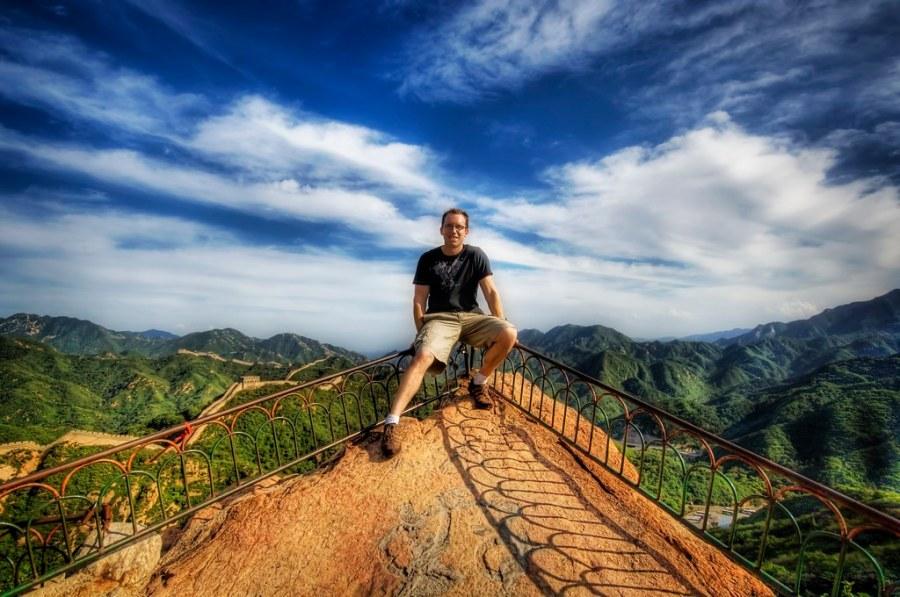Trey at the Great Wall