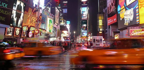 The cabs of Times Square