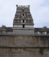 Rajagopuram on the temple wall - southern side