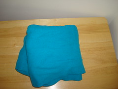 Blue Fleece Wrap