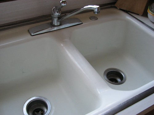 Sink cleaned